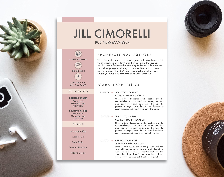 Lebenslauf Vorlage CV-Vorlage für MS Word und Seite kreative