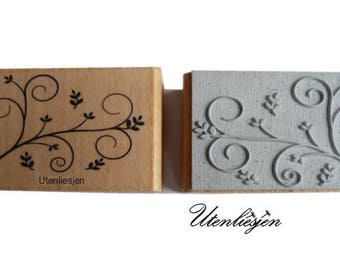 Stamp floral ornament, branch, 30 x 50 mm