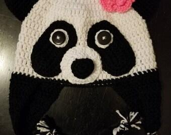 Panda hat; panda beanie