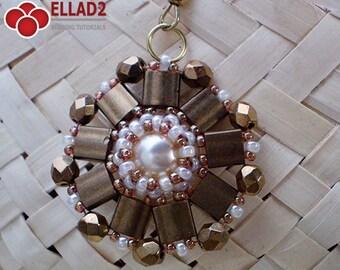 TUTORIAL Pearly Tila Earrings - Beading pattern,Beading Tutorial,Jewelry Tutorial,Earrings Tutorials