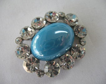 Vintage Turquoise Brooch Pin