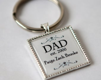 Gift for dad keychain, personalized gift for dad, dad keychain,gift for daddy, custom keychain, gift for father