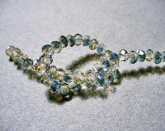 Crystal Beads Sahara Faceted  Rondelles 4x3MM