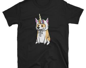 Funny Unicorn Corgi T-Shirt, Cute Corgi Gifts