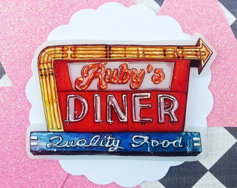 Ruby's Diner - Neon Sign
