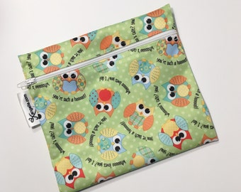 XL Owls Reusable Baggie
