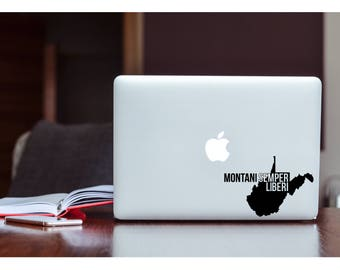West Virginia Decal, WVU Decal, WV State Moto Decal, Car Decal, Laptop Decal, YETI Decal, Tumbler Decal, Gifts for Him, Shop Dainty Daisy