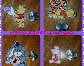 Disney Iron On Patch - Choose Winnie the Pooh, Eeyore, Piglet or Tigger