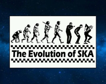 The Evolution of Ska Fridge Magnet. Humour. Gift Idea. Madness, The Specials etc