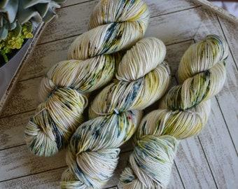 """DK Weight, Van Gogh Series: """"The White Orchard"""", Superwash Merino, Hand Dyed Yarn, 100g Skein"""