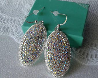 Rhinestone Crystal Victorian Earrings