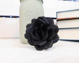 Black Paper Flowers - Paper flowers with stems - Wedding Flowers - Paper Flower Bouquet - Mother's Day Gift - Paper Anniversary