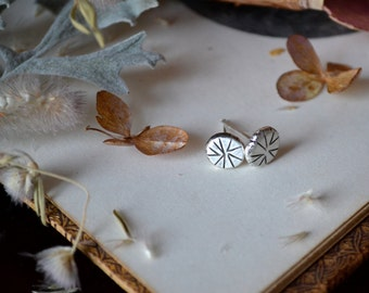 Pointed Wheel Silver Studs- made to order