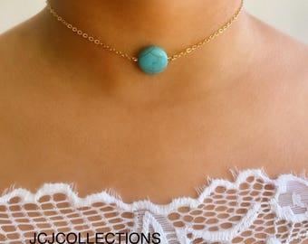 Turquoise Chocker / Boho Turquoise Chocker