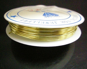1 roll 2.5 meters golden COPPER wire 1.2mm gauge 18-7916