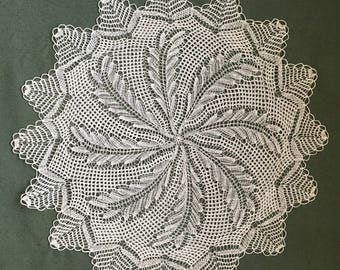 Handmade Crochet Round Tablecloth / Cotton Lace Doily/ Table Centerpiece/ Table Mat