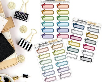 Quarter Boxes | Planner Stickers | Functional Collection