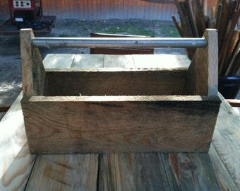 Handmade reclaimed wood toolbox