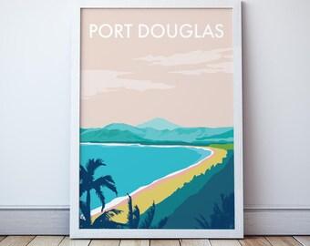 Port Douglas Vintage Style Seaside  Travel Print/ Poster