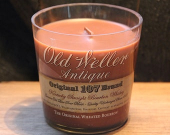 Old Weller Antique 107 Candle Kentucky Bourbon Scented Soy Wax, Bourbon Candle, Gift For Men, Guy Gift, Christmas Gift For Him, Guy Present
