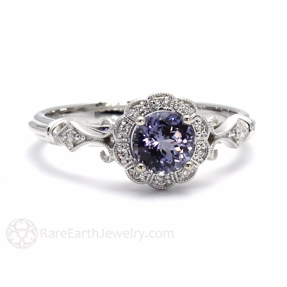 lajerrio engagement silver amethyst cut jewelry sterling her round promise purple rings for