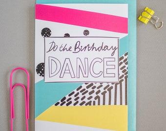 Do the birthday dance greeting card