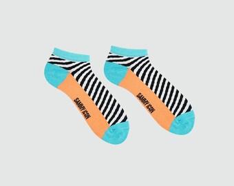 Yukon court chaussettes, chaussettes rayées, chaussettes fantaisie, chaussettes de l'été pour les hommes et les femmes