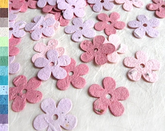 100 Plantable Daisy Confetti - Wedding Favor Plantable Paper Flower Seed Daisy Confetti - Free Shipping
