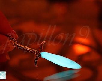 Bilbo SWORD / Bilbo Necklace / GLOW in the DARK / Sword necklace / Frodo Sword /
