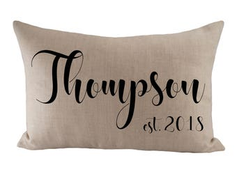 Custom Cushion Cover - Choose Your Text or Image, Font, Font Colour & Fabric - 12x18