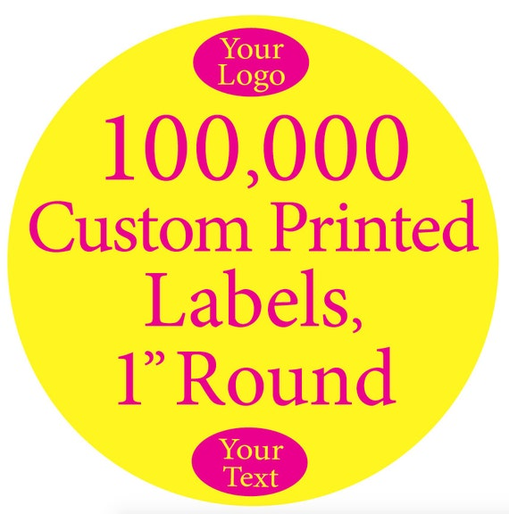 Image is loading 100-Full-Color-Labels-Custom-Printed-White-Polyester-