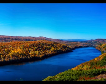 Michigan Photography | Lake of the Clouds | Porcupine Mountains | Upper Michigan | Travel Photography | Wall Art | Panorama | Print