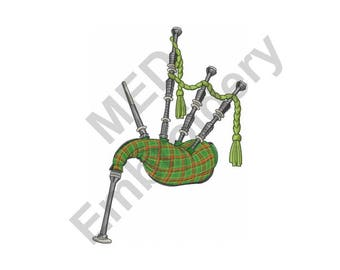 Bagpipes - Machine Embroidery Design