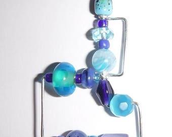 Blue Razzledazzle Pendant