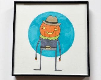 Pumpkin Dude - Original Sketch