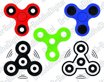 Sale! Fidget Spinner SVG Collection - Fidget Spinner DXF - Fidget Spinner Clipart - Svg Files for Silhouette Cameo or Cricut Craft Cutters