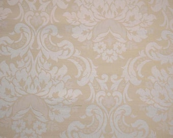 Damask White Cream Fabric