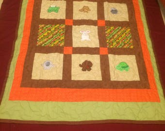 Roly Poly Animal Baby Quilt