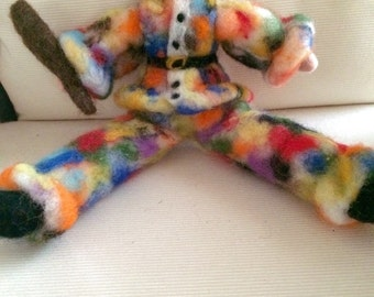 Arlecchino in fairy and carded wool