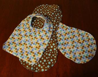 Infant Bib & Burp Cloth 3-pc Set