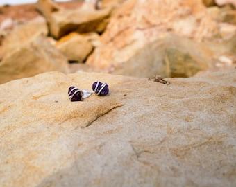 Wrapped Stone Stud Earrings