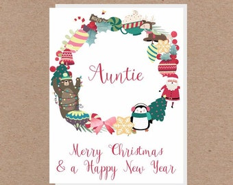 Christmas Greeting Cards  -For Her / Granddaugter / Aunti / Wife / Mum / Girlfriend / Nan / Daughter
