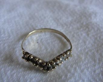 vintage chevron ring