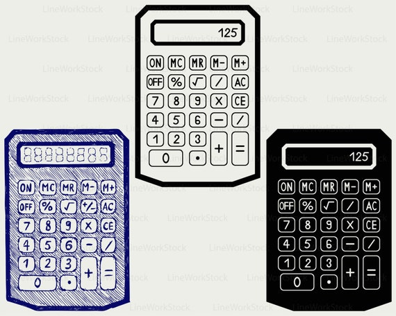 Calculator svg/calculator clipart/calculator svg/calculator silhouette/ calculator cricut cut files/clip art/digital download designs/svg from  LineWorkStock ...