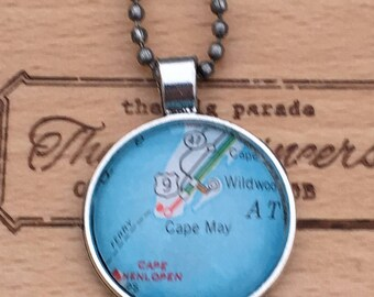 Cape May Map Pendant