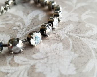 Crystal tennis bracelet, crystal bracelet, mother's day gift, from daughter, jewelry, gifts for her, jewellery, birthday gifts for her
