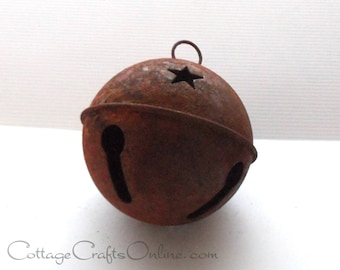 """Rusty Jingle Bell,  Large 65 mm, 2 1/2"""",  Darice Craft - Rusted Bell, Primitive Supply / Decor / Embellishment"""