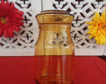 MAXWELL yellow apothecary jar
