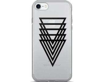 Geometric iPhone 7/7 Plus Case 5 Triangle Clear Phone Case Trinity Case