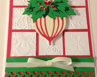 Ornament Christmas Card with envelope